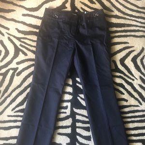 NY&C Dark Stretch Poplin Denim Crosby Dress Pant